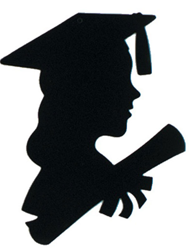 Graduation graduation decorations graduate girl silhouette the